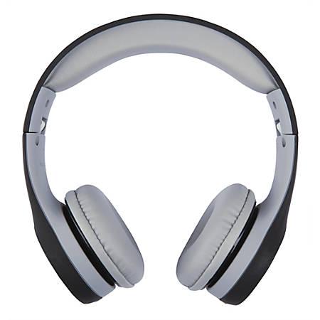Ativa™ On-Ear Headphones, Black/Gray, WD-LGO1-BLG