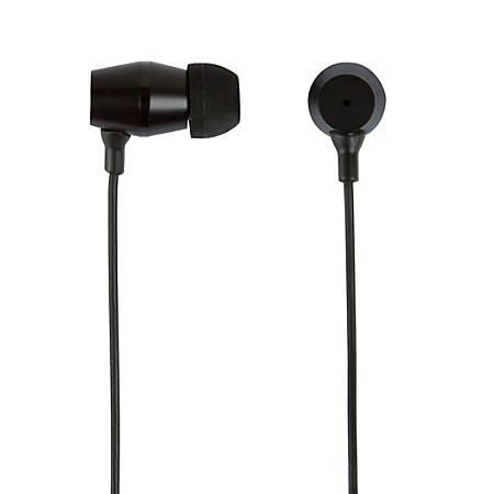 Ativa™ Metal Earbud Headphones, Black, WD-OD05-BLK
