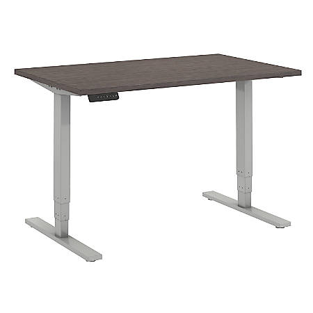 """Bush Business Furniture Move 80 Series 48""""W x 30""""D Height Adjustable Standing Desk, Cocoa/Cool Gray Metallic, Standard Delivery"""