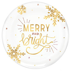Amscan Christmas Merry And Bright Round