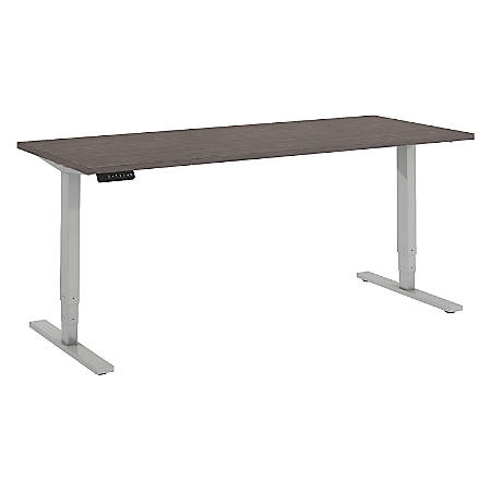"""Bush Business Furniture Move 80 Series 72""""W x 30""""D Height Adjustable Standing Desk, Cocoa/Cool Gray Metallic, Standard Delivery"""