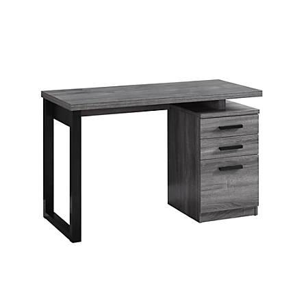 Monarch Studios Left Or Right Facing Computer Desk, Gray/Black