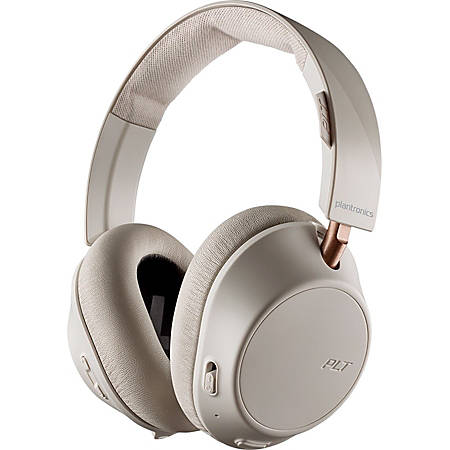 Plantronics BackBeat GO 810 Wireless Active Noise-Canceling Headphones - Stereo - Wireless - Bluetooth - 164 ft - 32 Ohm - 50 Hz - 20 kHz - Over-the-head - Binaural - Circumaural - Noise Canceling - Bone White