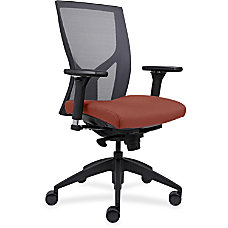 Lorell Mesh High Back Chair OrangeBlack