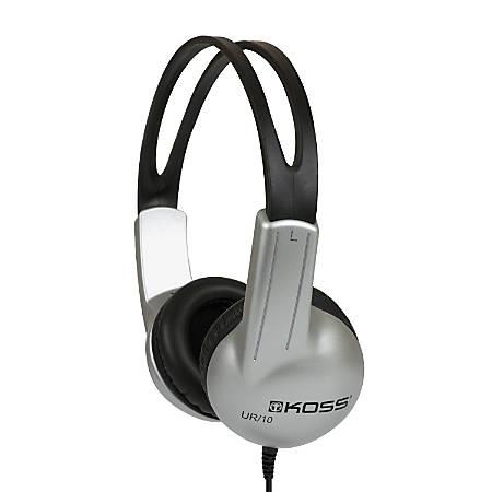 Koss® UR10 Stereo Headphones, Silver