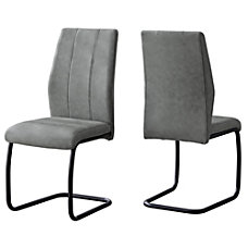 Monarch Specialties Sebastian Dining Chairs GrayBlack