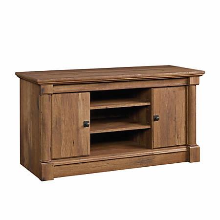 "Sauder® Palladia Panel TV Stand For 50"" TVs, 24-3/8""H x 47""W x 18-7/8""D, Vintage Oak"