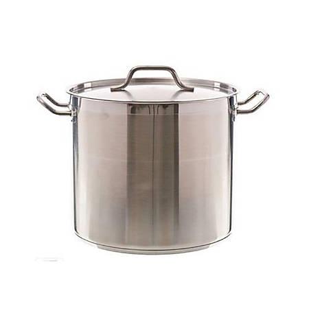 Update International SuperSteel® Stock Pot, 20 qt, Silver