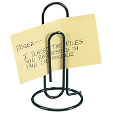 Office Depot Brand Memo Clip Black