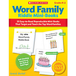 Scholastic Word Family Riddle Mini Books