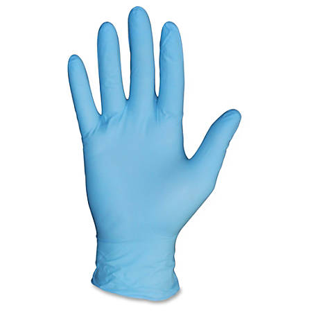 Protected Chef PF General Purpose Nitrile Gloves - Large Size - Nitrile - Blue - Powder-free, Ambidextrous, Beaded Cuff, Disposable - For Construction, Chemical, Multipurpose, Cleaning, Food, Laboratory Application - 1000 / Carton
