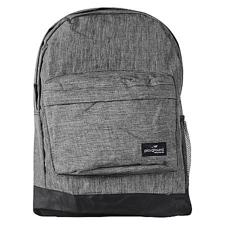 Playground Studytime Backpack, Charcoal/Melange