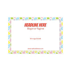 Adhesive Sign Horizontal Easter Egg Border