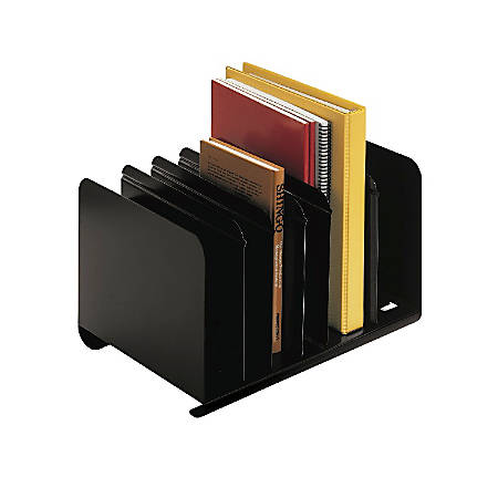 STEELMASTER® Adjustable Steel Book Rack, Black
