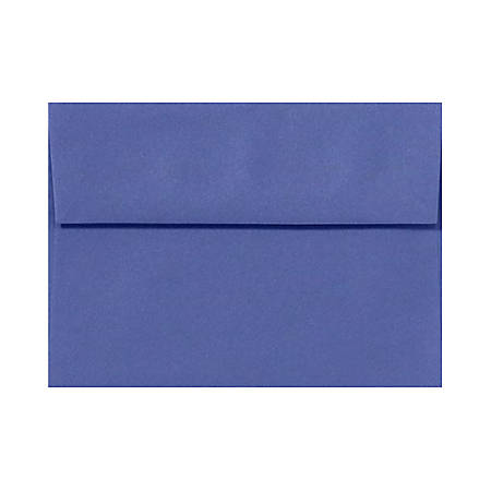 """LUX Invitation Envelopes With Peel & Press Closure, A2, 4 3/8"""" x 5 3/4"""", Boardwalk Blue, Pack Of 1,000"""