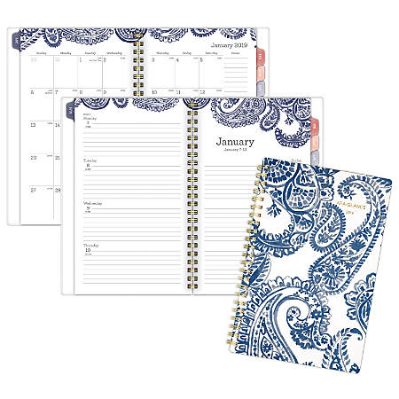 """AT-A-GLANCE® Paige Weekly/Monthly Planner, 4 7/8"""" x 8"""", January to December 2019"""