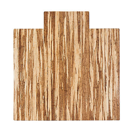 "Anji Mountain Strand-Woven Bamboo Roll-Up Chair Mat, With Lip, Rectangular, 42"" x 48"", Light Brown"