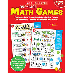 Scholastic One Page Math Games