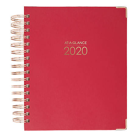 """AT-A-GLANCE Harmony Daily/Monthly Planner, 7"""" x 8-3/4"""", Berry, January to December 2020"""