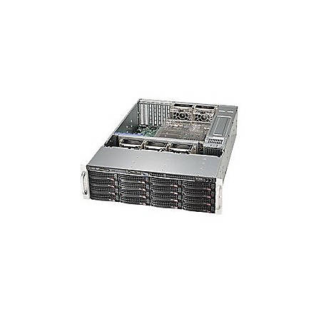 """Supermicro SuperChassis 836E16-R500B - Rack-mountable - Black - 3U - 16 x Bay - 5 x 3.15"""" x Fan(s) Installed - 2 x 500 W - Power Supply Installed - EATX, ATX Motherboard Supported - 5 x Fan(s) Supported - 16 x External 3.5"""" Bay - 7x Slot(s) - 2 x USB(s)"""
