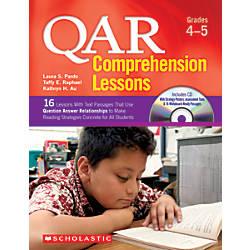Scholastic QAR Comprehension Lessons Grades 4