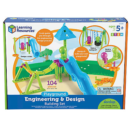 Learning Resources STEM Playground Engineering And Design Building Set, Kindergarten - Grade 4