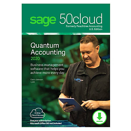 Sage 50cloud Quantum Accounting 2020 U.S. 4-User One Year Subscription