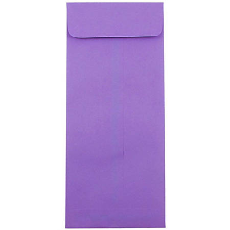 "JAM Paper #14 Policy Business Envelopes, 5"" x 11 1/2"", Violet Purple, 50 per Pack"