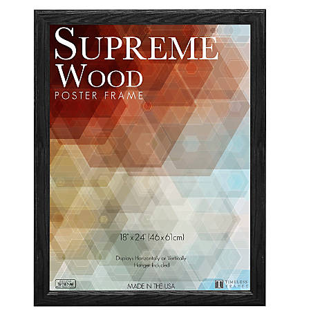 Timeless Frames Supreme Picture Frame 18 X 24 Black By Office Depot