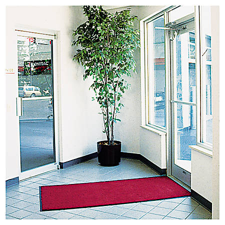 Crown Rely-On™ Olefin Indoor Wiper Mat, 3' x 5', Castellan Red