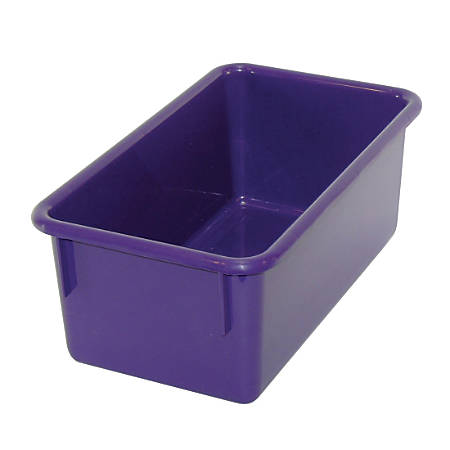 "Stowaway® Storage Container, No Lid, 5 1/2""H x 8""W x 13 1/2""D, Purple, Pack Of 5"
