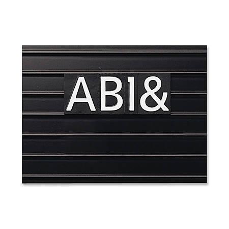 "Quartet® Magnetic Letters/Numbers/Symbols Set, Helvetica, 1"", Set Of 128"
