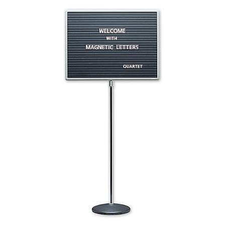 "Quartet® Standing Magnetic Letter Board, 16""H x 20""W"