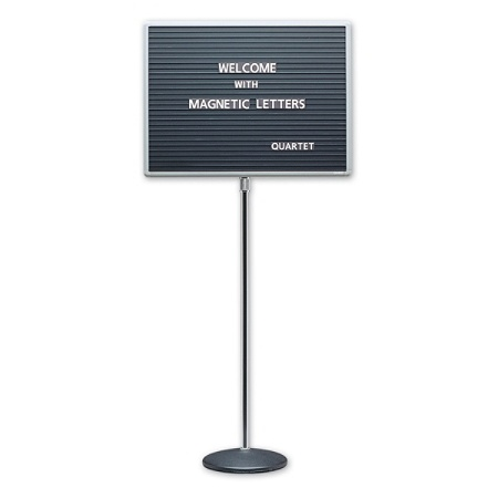 quartet standing magnetic letter board 16 h x 20 w by office depot officemax