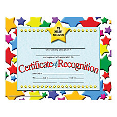 Hayes Certificates Of Recognition 8 12
