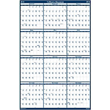 AbilityOne 2 sided Laminated Wall Planner
