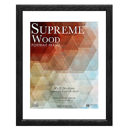 Timeless Frames Supreme Picture Frame 14 x 18 Black by Office Depot ...