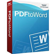 Wondershare PDF to Word Converter Download