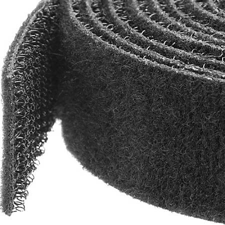 StarTech.com Hook-and-Loop Cable Management Tie - 50 ft. Bulk Roll - Black - Cut-to-Size Cable Wrap / Straps