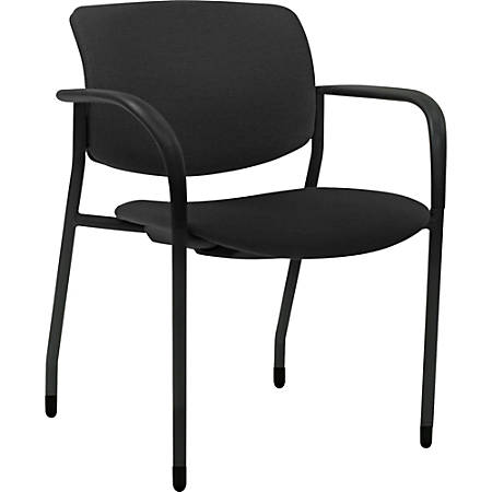 Lorell® Contemporary Stacking Chair, Black