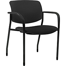 Lorell Contemporary Stacking Chair Black