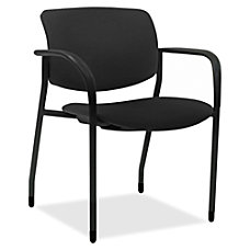 Lorell Contemporary Stacking Chair Foam Black