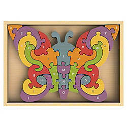 BeginAgain Toys Butterfly A Z Puzzle