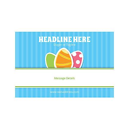 Adhesive Sign, Horizontal, 3 Easter Egg