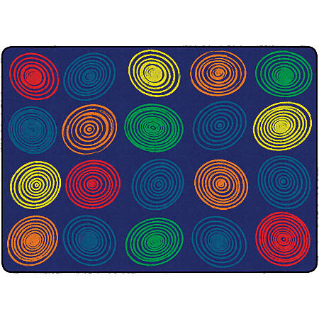 "Flagship Carpets Circles Rug, Rectangle, 6' x 8' 4"", Primary"