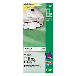 Avery Mini Sheets Permanent InkjetLaser Filing