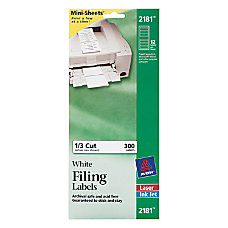Avery Mini Sheets Permanent InkjetLaser Shipping
