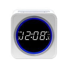Nelsonic FM Clock Radio White