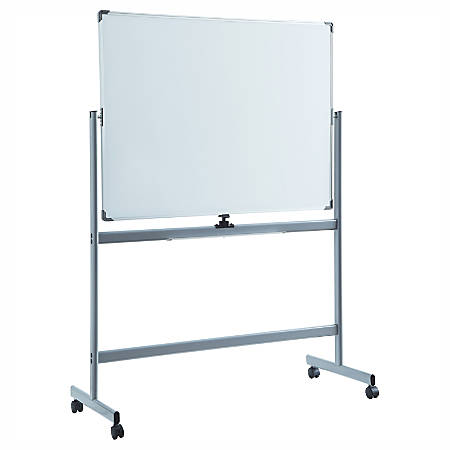 """Lorell™ Magnetic Dry-Erase Whiteboard Easel, 36"""" x 48"""", Metal Frame"""