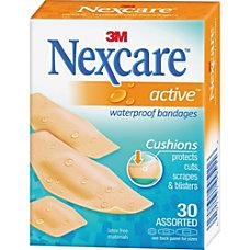 Nexcare Active Waterproof Bandages 30 ct